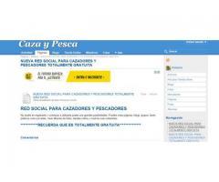 NUEVA RED SOCIAL PARA CAZADORES Y PESCADORES TOTALMENTE GRATUITA